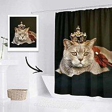 VEELU Custom Full Photo Shower Curtain with 12
