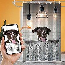 VEELU Custom Photo Shower Curtain with Hooks,