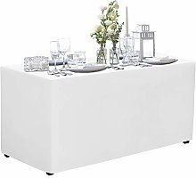 VEEYOO 6 Feet Table Cover - 72 x 30 Inch - Fitted