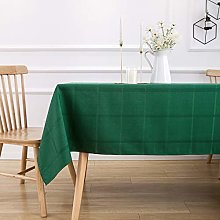 VEEYOO Rectangle Spillproof Checkered Table Cloth