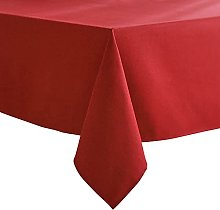 VEEYOO Red Tablecloth Poly Cotton Table cloth for