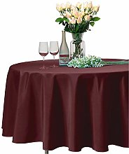 VEEYOO Round Tablecloth 100% Polyester - 335 cm