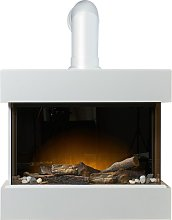 Vega Electric Wall Mounted Fireplace Suite with