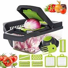 Vegetable Chopper, 12 in 1 Mandoline Slicer Food &