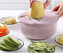 Vegetable Chopper Slicer with Container,5 Blades