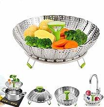 Vegetable Steamer Basket,Foldable Stainless Steel