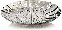 Vegetable Steamer Steaming Basket, INOX Steel,
