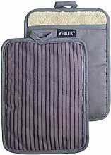 VEIKERY Oven Pot Holder with Pocket 100% Cotton