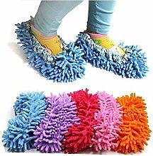 Vektenxi 1Pair Mop Slippers Shoes Brushing Foot