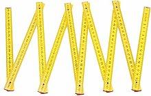 Vektenxi 1Pcs Wooden Ruler Folding Ruler Measuring