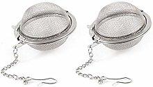Vektenxi 2 Pcs Tea Ball Infuser Stainless Steel