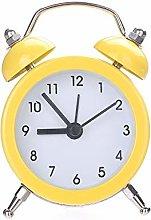 Vektenxi Clock | Mini Round Metal Alarm Clock Desk