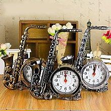 Vektenxi Clock | Retro Saxophone Desk Table Alarm