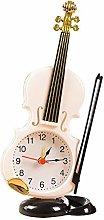 Vektenxi Creative Violin Alarm Clock Home Office