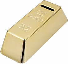 Vektenxi Gold Piggy Bank Coin Money Saving Box