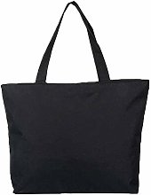 Vektenxi Natural Canvas Shoulder Tote Bags Plain