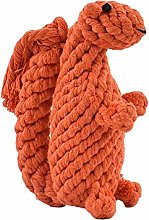 Vektenxi Pet Squirrel Shape Cotton Rope Toys,Pet