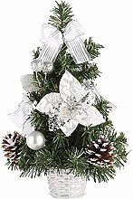 Vektenxi Tabletop Mini Christmas Tree, Merry