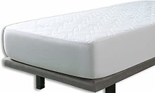 Velfont Cotton Quilted Mattress Protector, Double