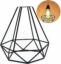 Velidy Vintage Lampshade Diamond Shape Retro Style