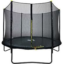 Velocity 10ft Powder Coated Trampoline with Safety