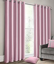 Velosso Plain Blackout Curtains Ring Top Thermal