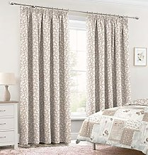 Velosso Vintage Shabby Chic Pencil Pleated Curtain
