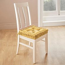 Velour Dining Chair Booster Cushion Gold by