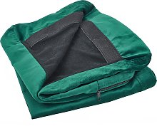 Velvet 2-Seater Sofa Cover Green BERNES