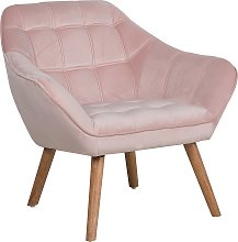 Velvet Armchair Pink KARIS