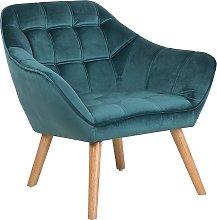 Velvet Armchair Teal Blue KARIS