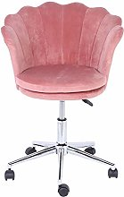 Velvet Chairs,Flower‑Shaped Executive Chair