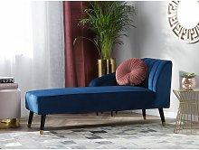 Velvet Chaise Lounge Cobalt Blue ALSVAG