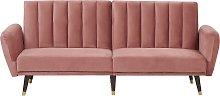 Velvet Convertible Sofa Bed Reclining Back Panel