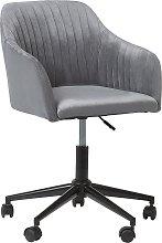 Velvet Desk Chair Grey VENICE