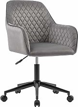 Velvet Desk Chair Office Chair with Arms Luxurious