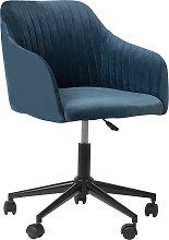 Velvet Desk Chair Teal Blue VENICE