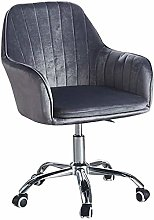 Velvet Desk Chair with Arms Modern Upholstered