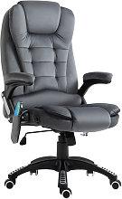 Velvet-Feel Office Chair w/ Heating Massage Points