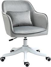 Velvet-Feel Tub Office Chair w/ Massage Pillow