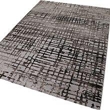Velvet Grid 3385 095 beige brown Rectangle Funky