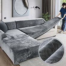 Velvet Plush Couch Cover, 1 Pcs Stretch Sofa Cover