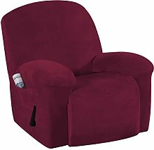 Velvet Plush Couch Cover for Recliner Couch