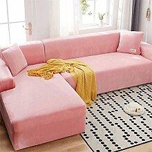 Velvet Plush Sofa Cover, Skid Resistance Stretch