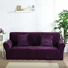 Velvet Plush Sofa Cover, Stretch Couch Cover Non