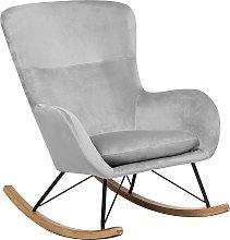 Velvet Rocking Chair Light Grey ELLAN