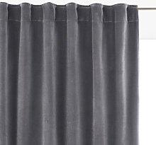 Velvet Single Hidden Tab Curtain by La Redoute