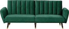 Velvet Sofa Bed Emerald Green VIMMERBY
