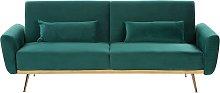 Velvet Sofa Bed Green EINA