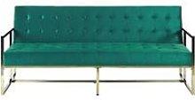 Velvet Sofa Bed Green MARSTAL